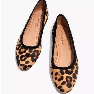 Madewell The Reid Ballet Flat Leopard Calf hair 8